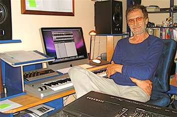 Roy in his home studio